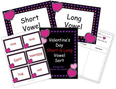 valentines day short  long vowel sort  images