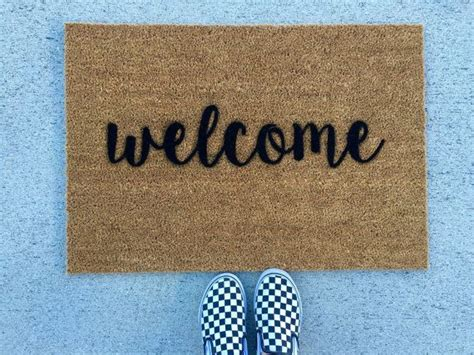 Make Your Own Doormat by 1000 Ideas About Welcome Mats On Coir