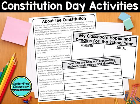 constitution day worksheets for elementary school students constitution day activities ideas books and printables clutter free classroom