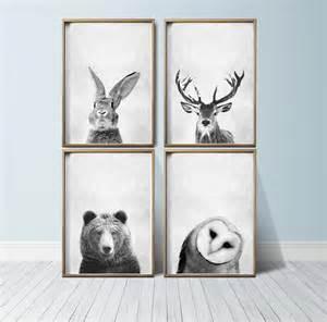 nursery wall art animal print art woodland nursery decor