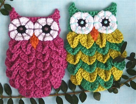 creations hiboux au crochet