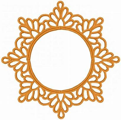 Circle Border Pattern Embroidery Clipart Machine Designs