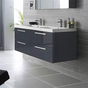 Meuble Salle De Bain Moderne : idee deco salle de bain moderne ~ Nature-et-papiers.com Idées de Décoration