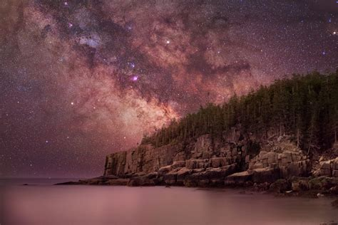 Milky Way Over Otter Cliffs Nature Wallpapers