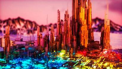 3d Colorful Structure Neon 4k Bright Wallpapers
