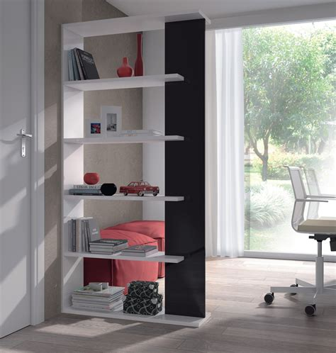 White And Black Bookcase by Alida Room Divider Black White And Gloss Bookcase 0t2252bo