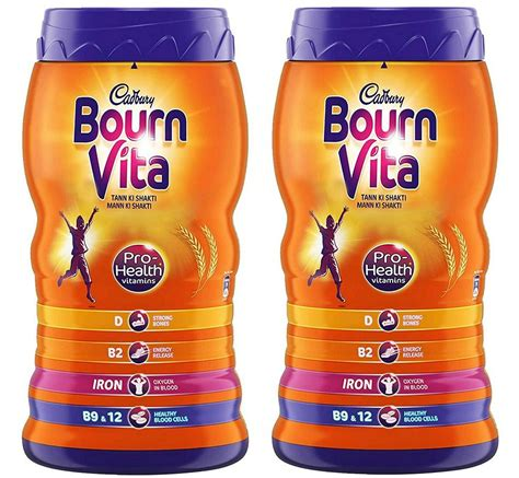 Bournvita with Pro Health Vitamins - Pack of 2 (1 Kg Each ...