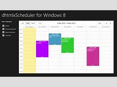 dhtmlxScheduler 36 Ready for Windows 8 Apps DHTMLX Blog