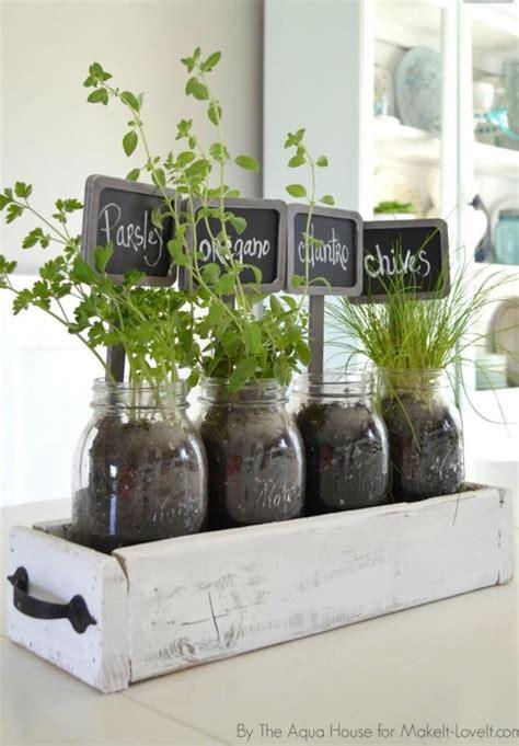 kitchen window decor ideas herbs in drawer inside fruit jars for kitchen window