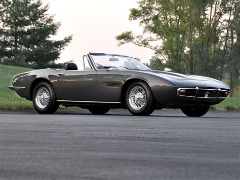 vintage maserati convertible 1969 73 maserati ghibli spyder supercar classic f