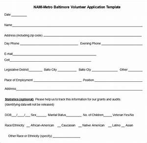 volunteer application form template pictures to pin on With volunteer questionnaire template