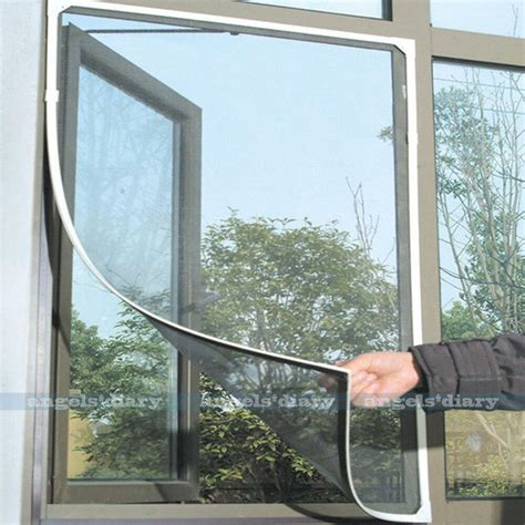 Insect Net Screen Net self adhesive insect fly bug mosquito window door net mesh