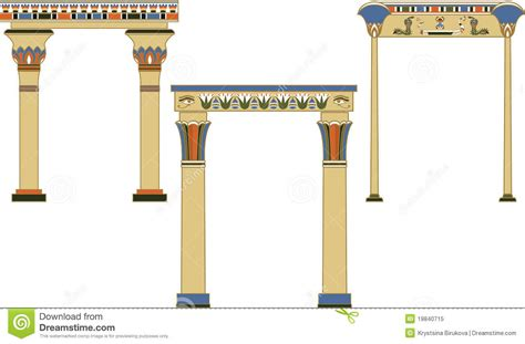 ancient egyptian arches set stock vector illustration