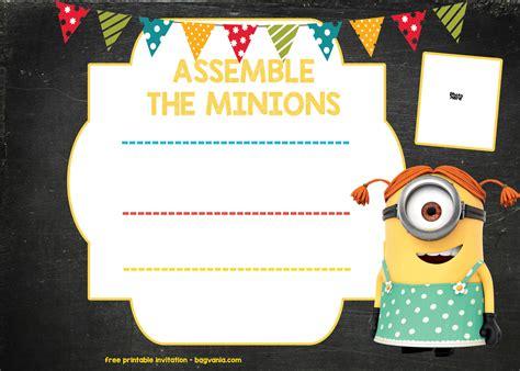 minion birthday invitation template   bagvania