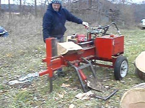 homemade wood splitter youtube