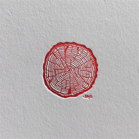 "RINGS"" The second of three different letterpress prints ..."