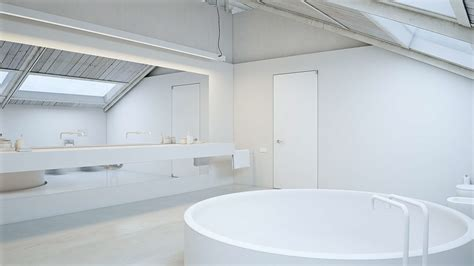 Wondrous White Three Lofts With Clean Bring Interiors by Wondrous White Three Lofts With Clean Bright Interiors