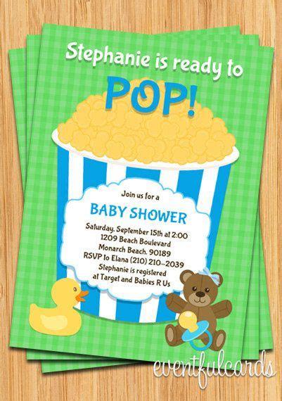 Ready to pop popcorn baby shower invitation filmwisefo