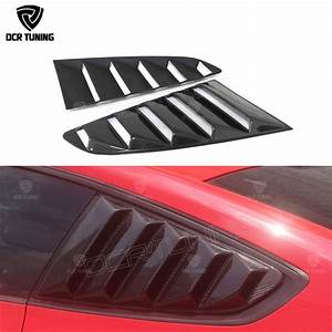 For Ford Mustang Carbon Fiber Rear Window Louvers 2015 2016 GT350R Style for Mustang Tuning ...