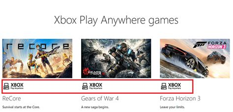 xbox play anywhere use xbox play anywhere to play on windows 10 or xbox one
