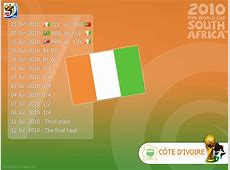 32 FIFA World Cup 2010 match schedule wallpapers for each