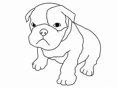 Coloring Puppy Pages Bulldog