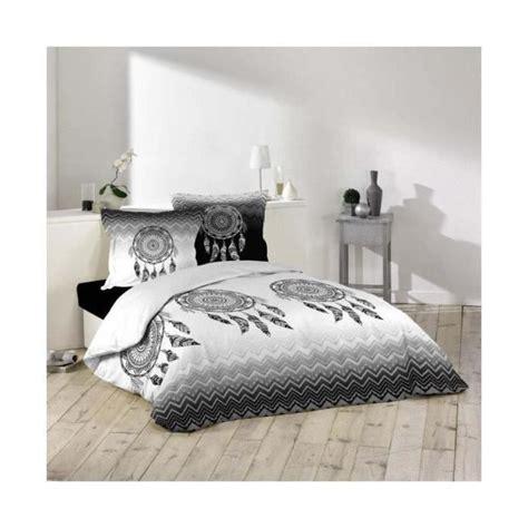 Styles et compositions (coton, polyester, polycoton). Housse de couette 200x200 100% coton Attrape Rêves + taies d'oreillers Noir, Gris, Blanc - Achat ...