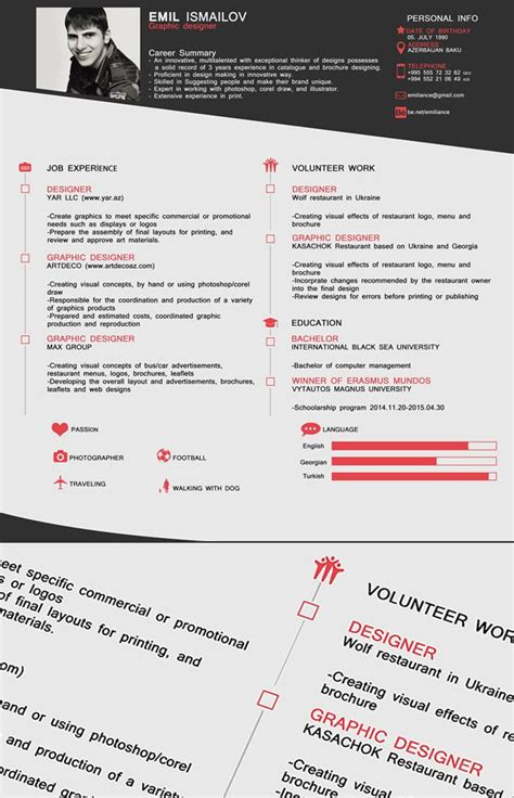 Great Cv Templates by Free One Page Cv Resume Template Free Stuff