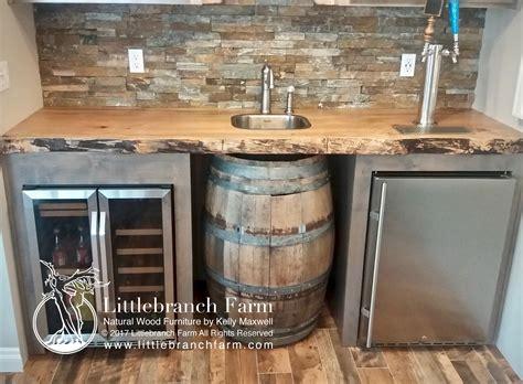 custom built bars wood countertops live edge wood slabs