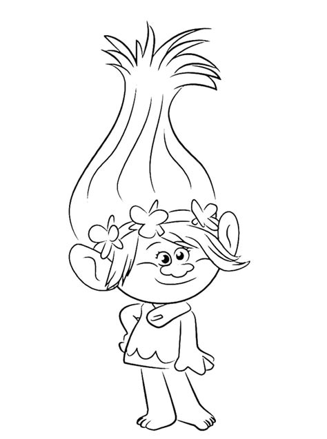 Coloring Pages To Print by Trolls Coloring Pages