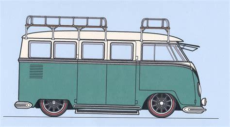 volkswagen bus drawing vw bus cartoon pictures vw kombi drawing next vehicle