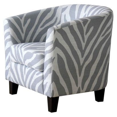 portland upholstered tub chair gray white zebra kinda in
