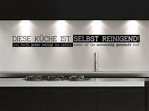 Wandtattoo Küche Bilder : wandtattoo diese k che ist selbst reinigend wandtattoo de ~ Sanjose-hotels-ca.com Haus und Dekorationen