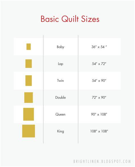 size quilt measurements bright linen basic quilt sizes
