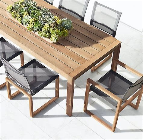 aegean teak mesh side chair outdoor dining furniture