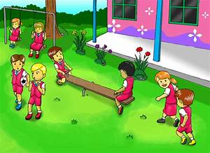 School Playground stock illustration. Illustration of ...