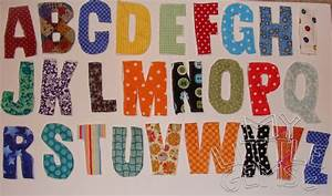 My little gems fabric scrap rag alphabet template for Fabric letter templates