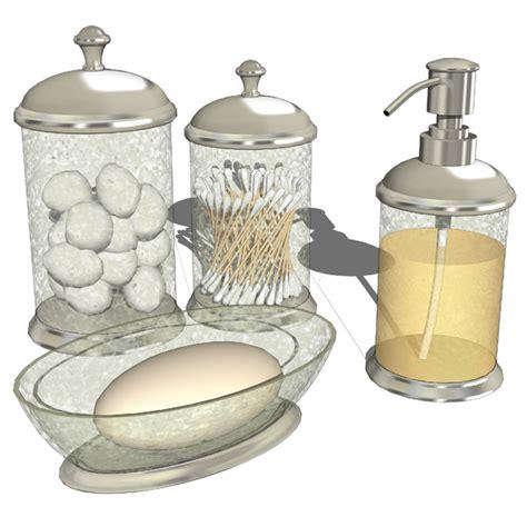 Crackle Glass Bathroom Set by Bathroom Accesories 03 3d Model Formfonts 3d Models