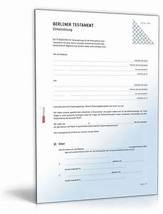 Vorsorgevollmacht Ohne Notar Gültig : berliner testament einheitsl sung muster zum download ~ Orissabook.com Haus und Dekorationen
