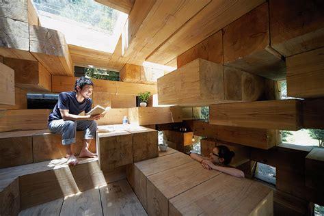 Sou Fujimoto's Final Wooden House is simultaneously