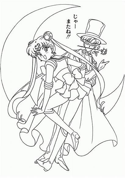 Sailor Moon Coloring Pages Festival Tuxedo Sheets