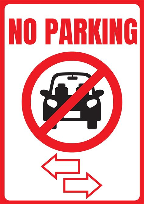 printable  parking signs template images