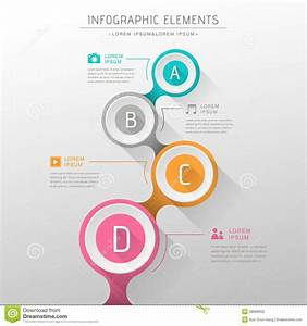 Flat Design Vector Abstract Flow Chart Infographic