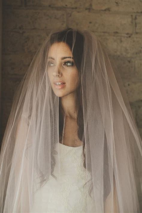 ombre hand dyed blush pink bridal veil cathedral blusher