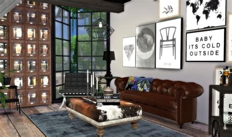 city living room interior  hvikis sims  updates