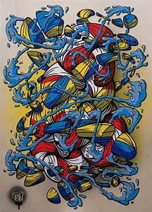 Toile Street Art : crin 40 cr ations talentueuses entre street art et toile ~ Teatrodelosmanantiales.com Idées de Décoration