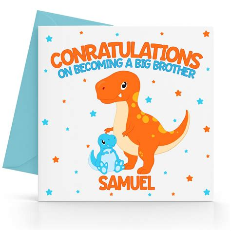personalised congratulation    big brother card