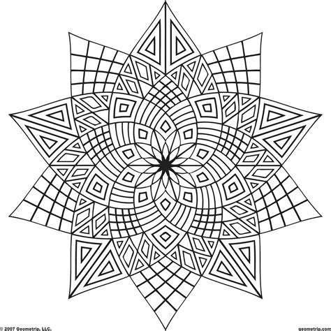 coloring pages adorable geometric coloring pages