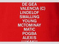CONFIRMED LINEUP United vs Chelsea
