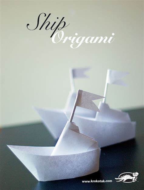 krokotak origami ship